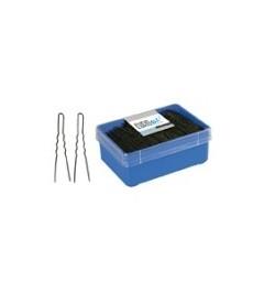 Eurostil,caja 400 horquillas invisibles negra