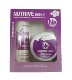 Montibello,pack Nutrive repair cabellos dañados y deshidratados