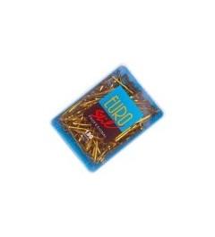 Eurostil,caja de 150clips largo bronce
