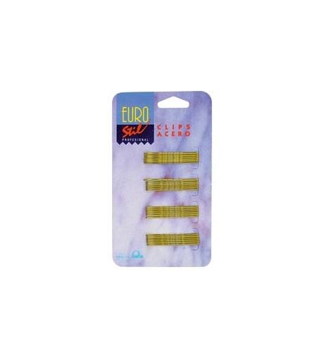 Eurostil,carton 24clips pequeño bronce