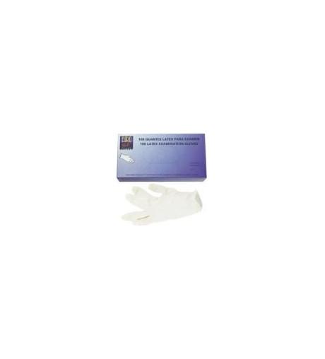Eurostil,caja de 100guantes blancos de latex