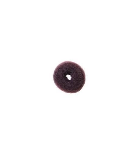 Eurostil,relleno moño circular castaño oscuro