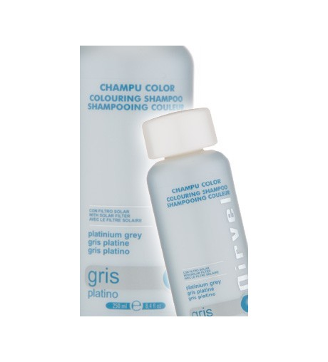 Nirvel,Champu color Gris platino de 250ml